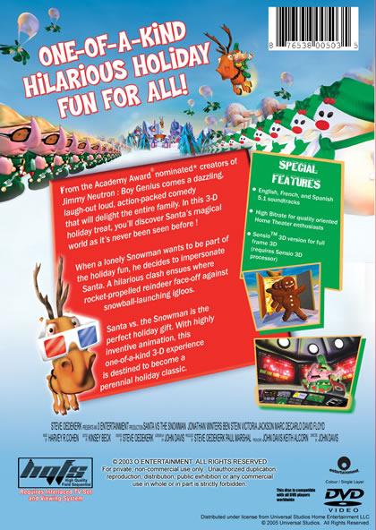 Santa Vs. Snowman 3D DVD