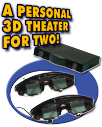 Wired 3D Video Viewing System 2 Glasses and Controller