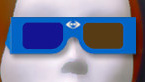 Cardboard Anaglyph Glasses blue/amber qty 2
