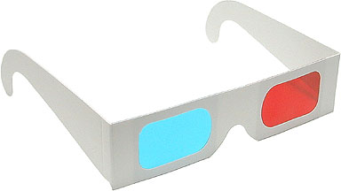 Red Cyan 3D glasses (qty 10)