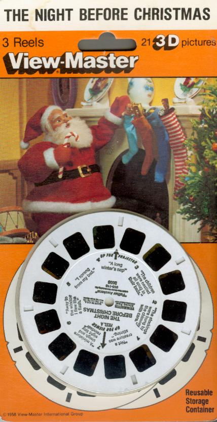 Night Before Christmas Viewmaster Reel