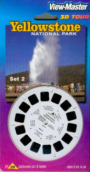Yellowstone National Park #2 Viewmaster 3 Reel Set